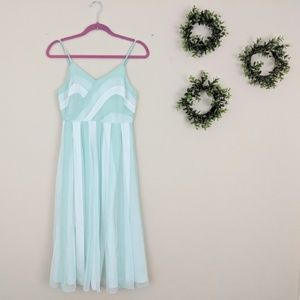 Lauren Conrad Mint White Stripe Midi Dress 4